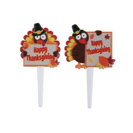 Food Decorating Party Pick Thanksgiving Message