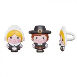 Pilgrims Cupcake Rings