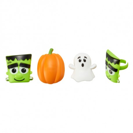 Food Decorating Party Ring Halloween Ghost Pumpkin Frankenstein