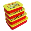 Microwavable Bento Box Lunch Box 4 Nesting Container School Bus