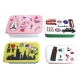 Microwavable Bento Box Lunch Box 4 Nesting Food Container