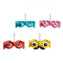 Japanese Bento Food Pick Fun Goggles Eye 4P