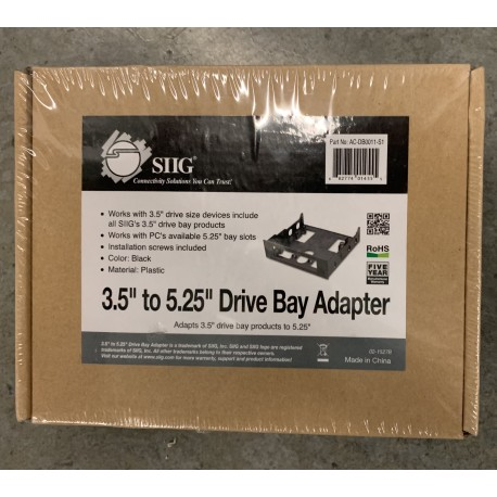 New 3.5 To 5.25 Drive Bay Adapter