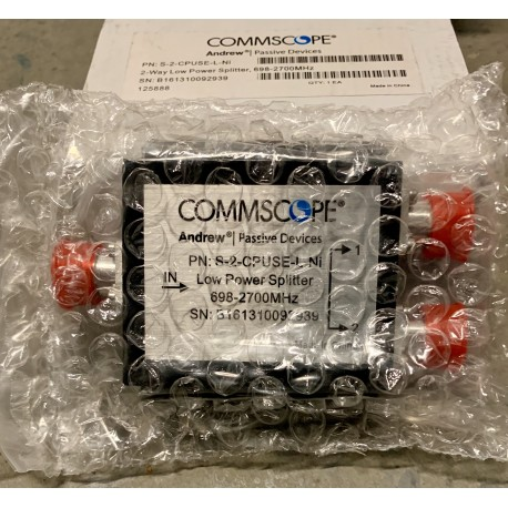 CommScope Andrew S-2-CPUSE-L-Ni Two-way Low Power Splitter 698–2700MHz Device NEW