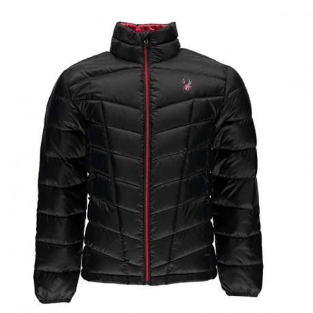 Spyder Pelmo Down Jacket Black and Red XXL