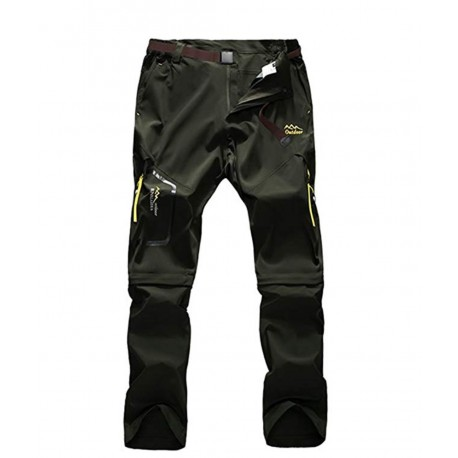New Vcansion Men's Outdoor Waterproof Work Pants Quick Dry Convertible Ripstop Cargo Pants/Shorts