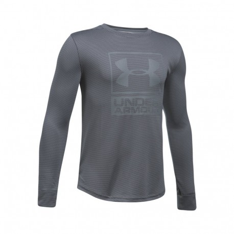 New Under Armour Boys' UA Textured Tech Crew Neck Top Size YLG