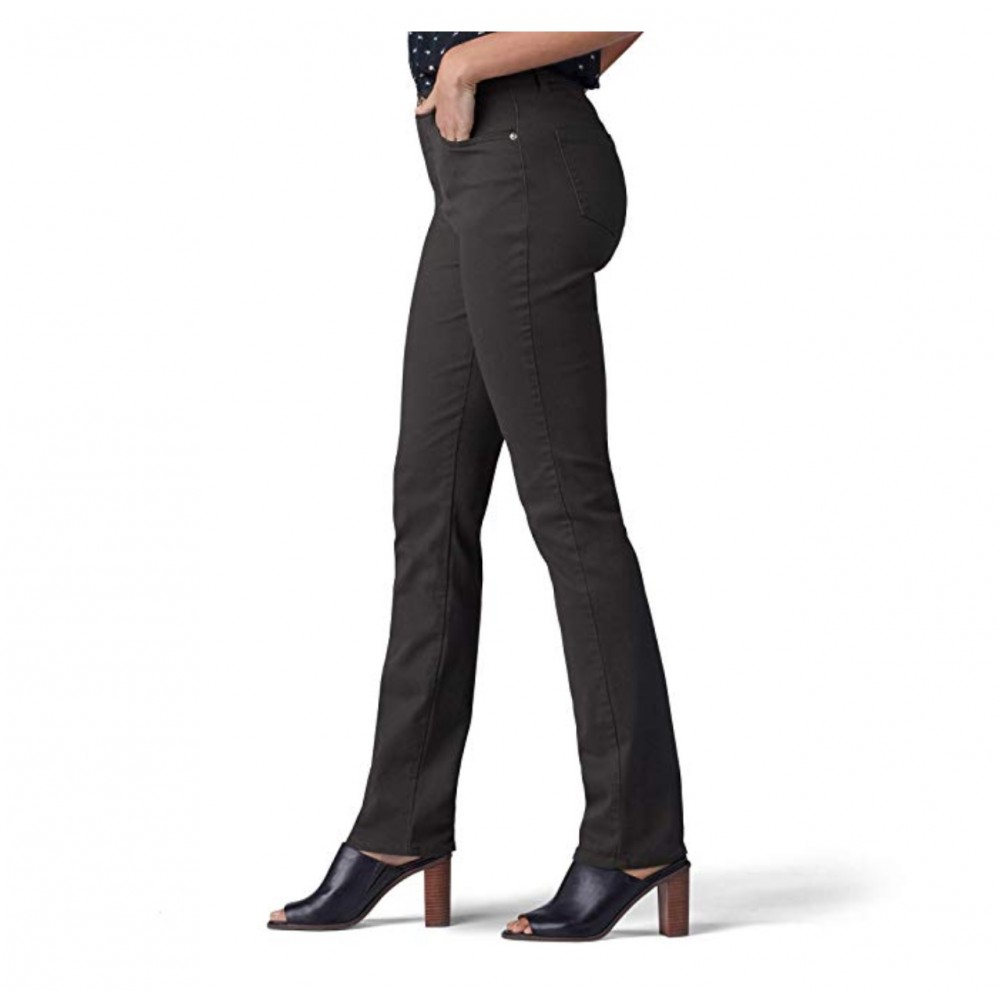 a5cb3ebf2f3ee ... NEW LEE Women s Instantly Slims Classic Relaxed Fit Monroe Straight Leg  Jean Size 10 Long