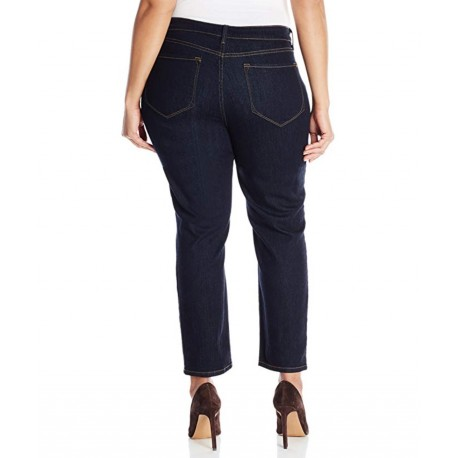 NYDJ Women's Plus-Size Ira Ankle Jeans in Indigo Denim-Dark Enzyme Size 14W
