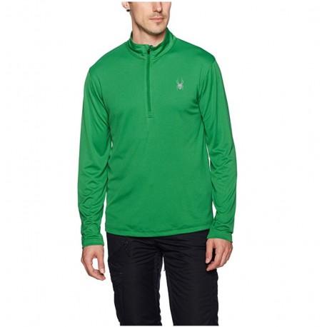 Spyder Men's Limitless 1/4 Zip Dry Web T-Neck Amazon Green Size M