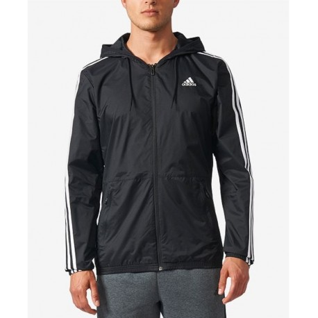 NEW adidas Men's Three-Stripe Windbreaker Size S