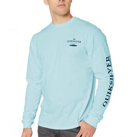 NEW Quiksilver Men's Wasure Mono Ls Long Sleeve Shirt Size S