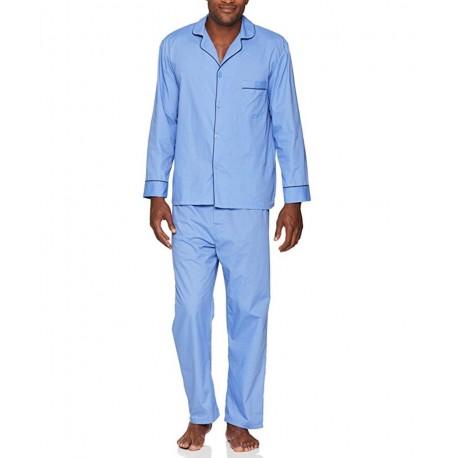 Hanes Men's Woven Plain-Weave Pajama Set