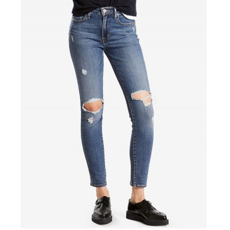 New Womens Levi's 721 High-Rise Ripped Skinny Jeans 30 X 30