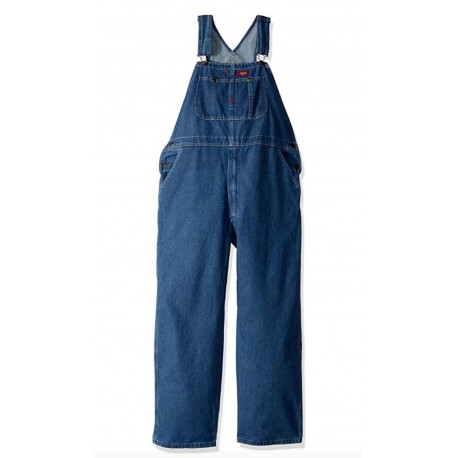 Dickies Men's Denim Bib Overall Stain & Wrinkle Resistant, Multiple Tool Pockets 36 x 32