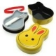 Japanese Bento Box 2 tier Lunch Box with Fork, Strap - Rabbit