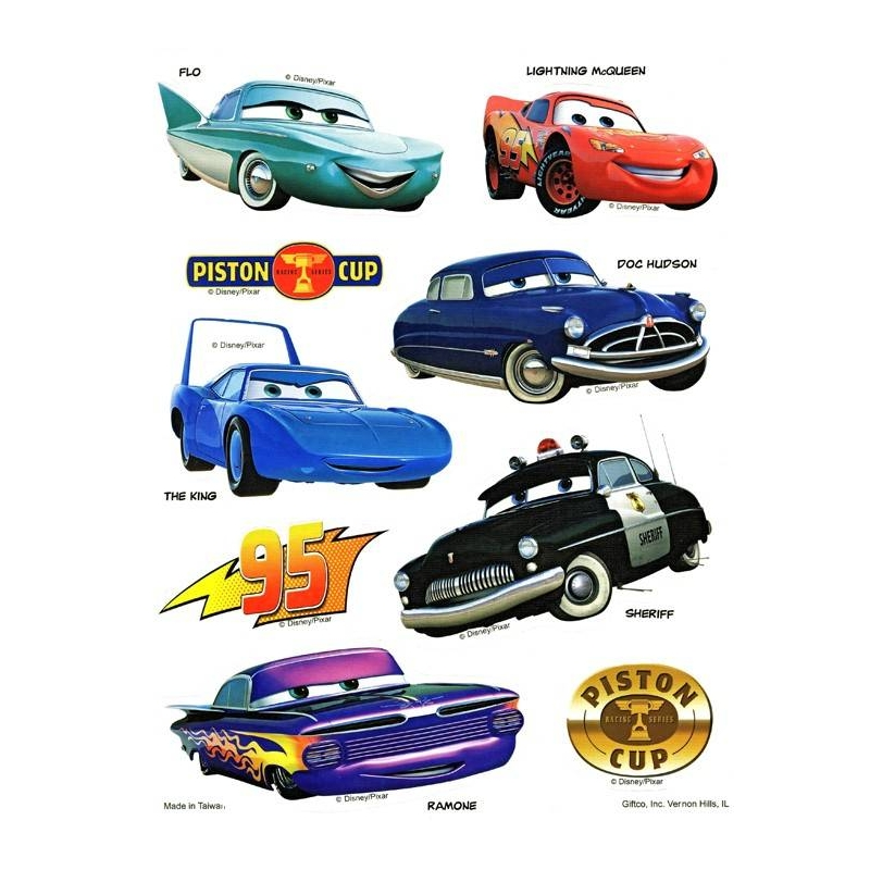 Disney pixar cars static stickers set of 2 for other cute for Disney cars mural uk