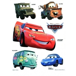 Disney Pixar Cars Static Stickers set of 2