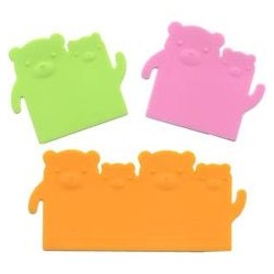 Silicone Bento Food Separator Sheet Reusable Bear