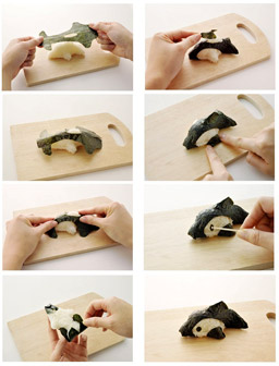 How to Shape Dolphin Rice Ball - Fun Food Art